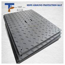 20mm for 100 tons chequer ground hdpe road plate uhmwpe plastic temporary protective floor coverings mat