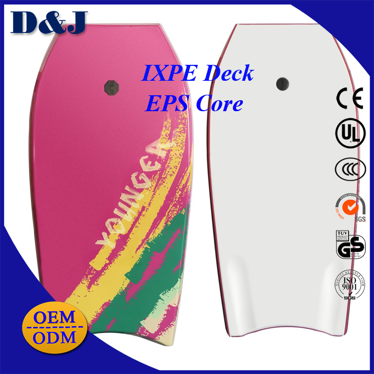 IXPE Deck EPS Core HDPE Bottom Heat Lamination Lightweight Water Sports Body boards