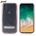 High quality transparent holder TPU+PC case for iphone x , back cover case mobile accessories