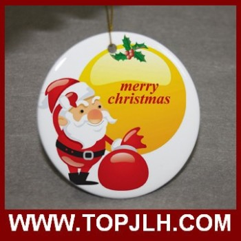 Sublimation Ceramic Ornament Pendant for Christmas Tree