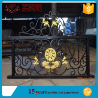 China top sale cheap decorative wrought iron fence/iron fence dog kennel/used wrought iron fencing for sale