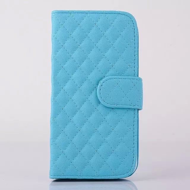 Mobile Phone Plastic Wallet Leather Case for iPhone 5 Book Case