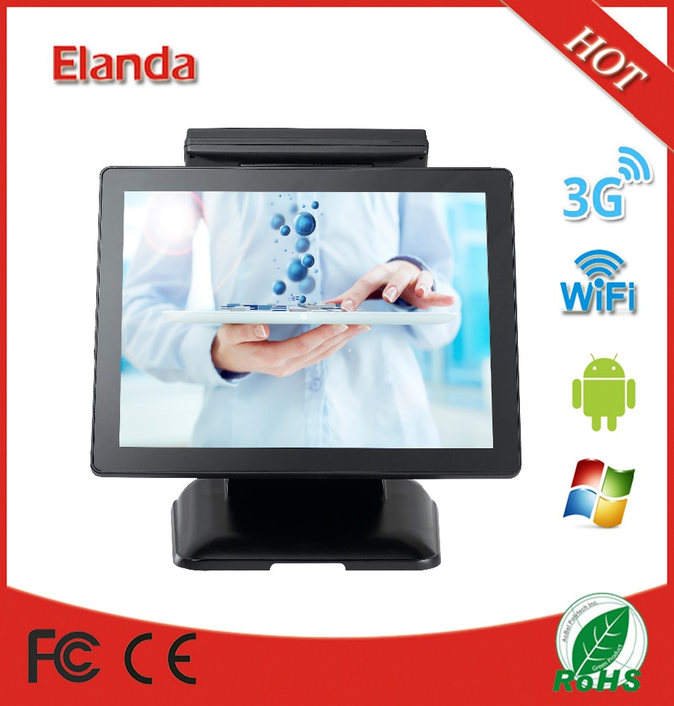 "Retail hot selling 15"" two touch screen pos system all in one"
