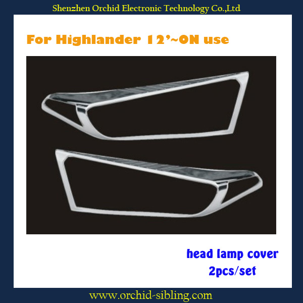 chrome plastic head lamp covers for toyota cars