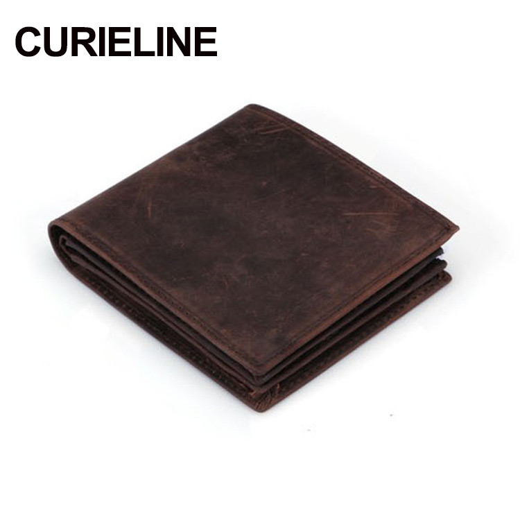 China Supplier OEM Service Handmade Mini Man Leather Wallet
