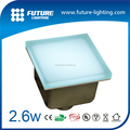 Outdoor IP67 150x150mm Warm white RGB frosty glass shelf led floor tiles