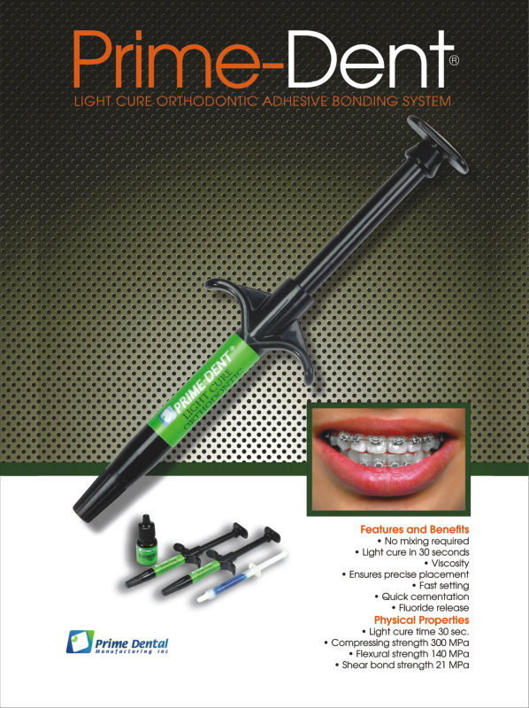 orthodontic curing light dental composite