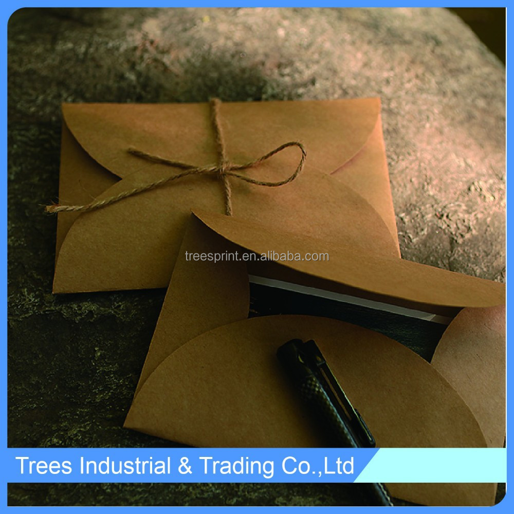 China kraft paper folding envelope with string promotion in yiwu