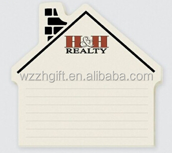custom house shape notepad