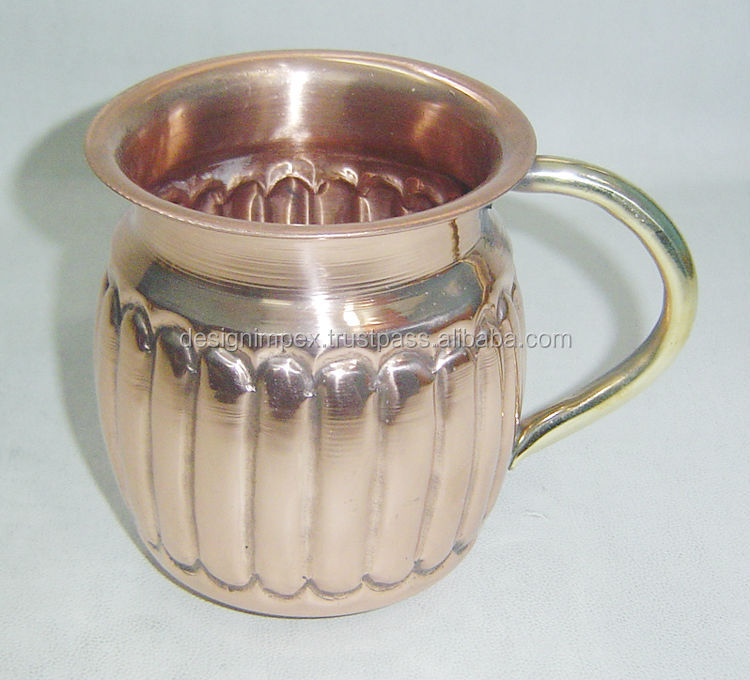 Indian wholesale Russian Standard Moscow Mule Mugs,14oz engravel copper mule mugs,copper mug with custom engraved logo