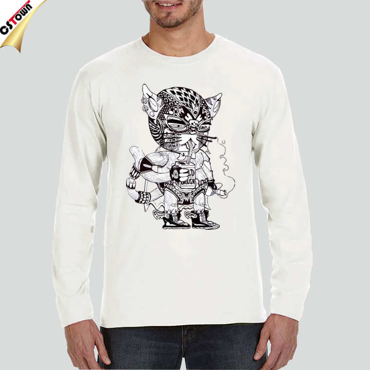 Wholesale Long Sleeve T-Shirt with Digital Print Design