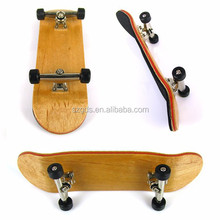 Wholesale price canadian maple wood deck /Wood Fingerboard /Non deformed skateboard deck 10x3cm various colors