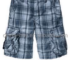 Boy's casual checked shorts