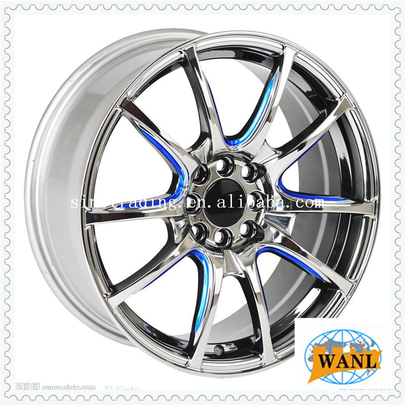 Silver finishing alloy car rims 14 15 16 17 18 19 inch