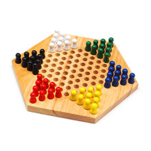 Adult Puzzle Wooden For Children Hexagon Checkers Children Gifts