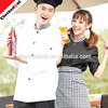 Hot sale Classic Long Sleeves Restaurant Hotel Jackets red white black chef coat uniform