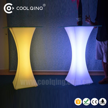 Coolqing waterproof IP68 dimmable mood light portable illuminated LED bar table for outdoor wedding party