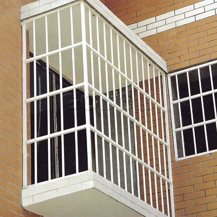 China supplier golon aluminium window grill design cheap for Iron window design house
