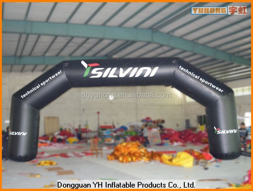 outdoor giant advertising inflatable airtight arch gate for sports event