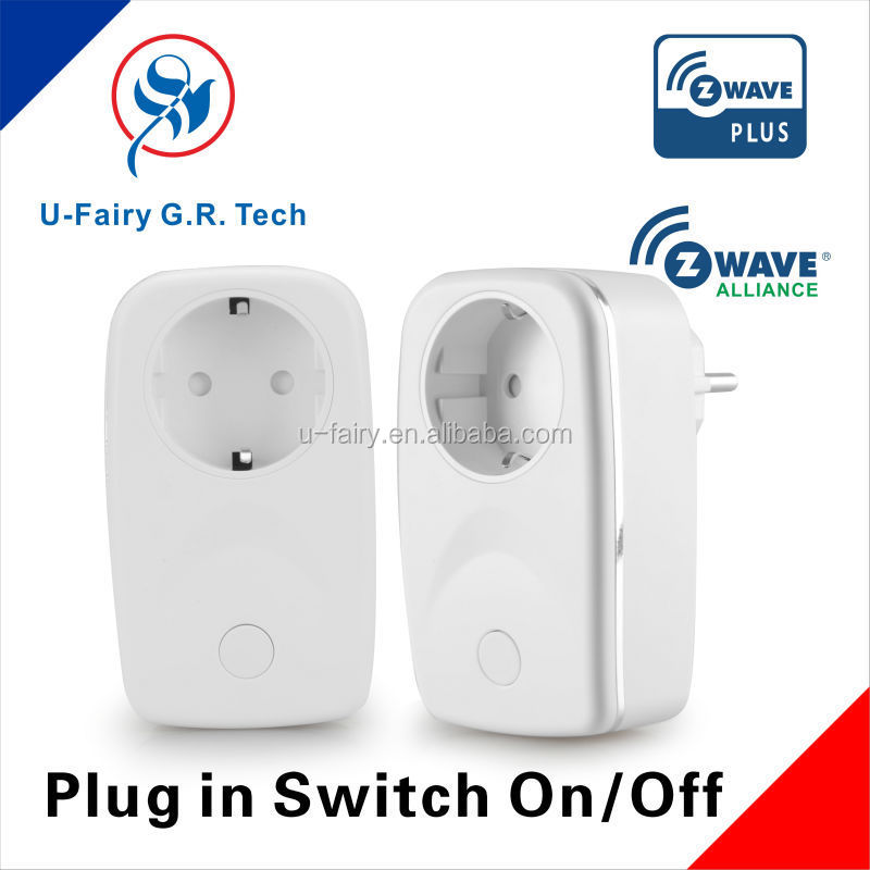 CE approved competitive price Z-wave smart home wireless smart electric plug switch on/off