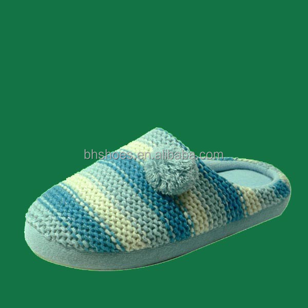 BH095529 indoor slippers with knitted fabric upper
