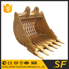 Skeleton rock bucket with bucket teeth for 20 Ton excavator