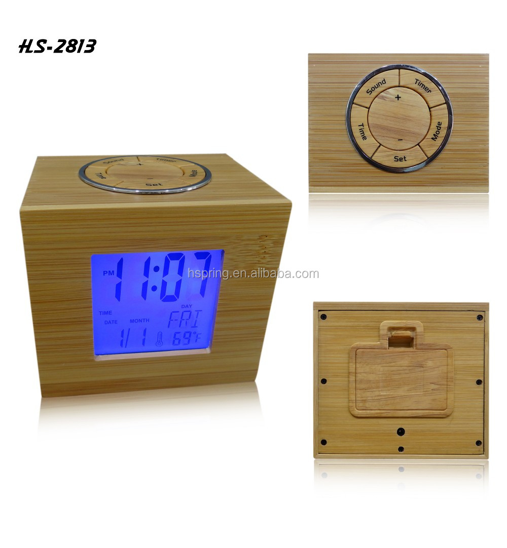 Digital best price desktop wood wooden digital led snooze alarm clock