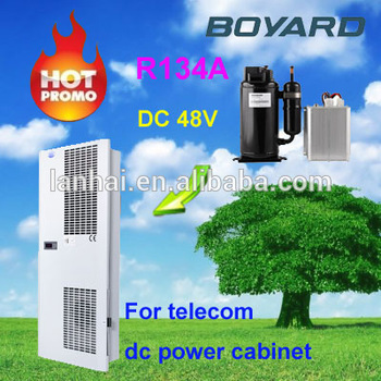 DC 48v solar power air conditioner for Battery bank cooler outdoor unit boat motors cabinet telecom air conditioning