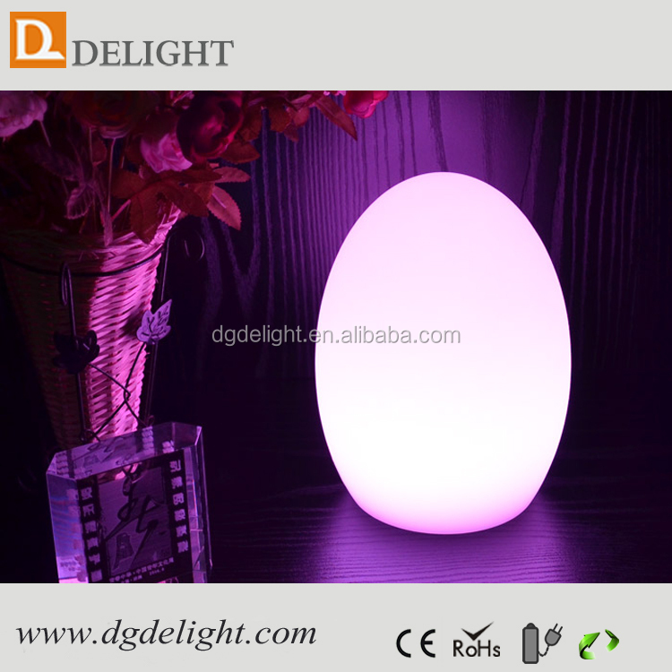 Battery powered moon light LED egg shaped moon light with rgb 16 colors changing