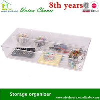Good quality transparent plastic organizer box in drawer