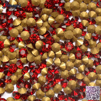 Siam Deep Red SS30-40 Chinese A grade glass stones and top quality color glass rhinestones