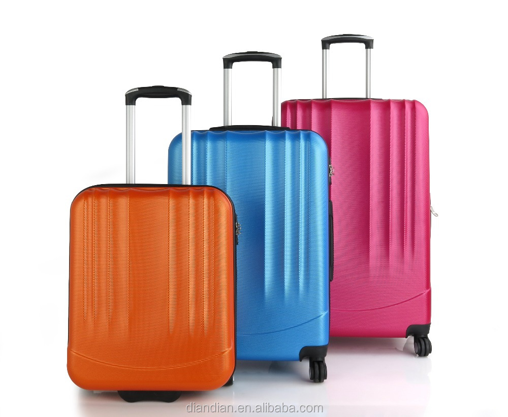 4 spinner wheels low price high quality traveling PET luggage sets/carry on suitcase trolley case DC-- 9401