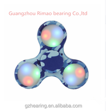 Low Price LED Camouflage type funny and multicolor fidget spinner hand spinner