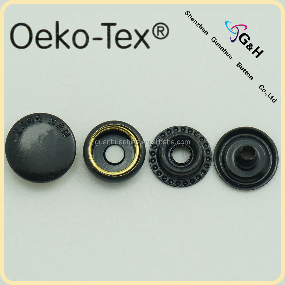 Oeko-Tex pass black press snap button