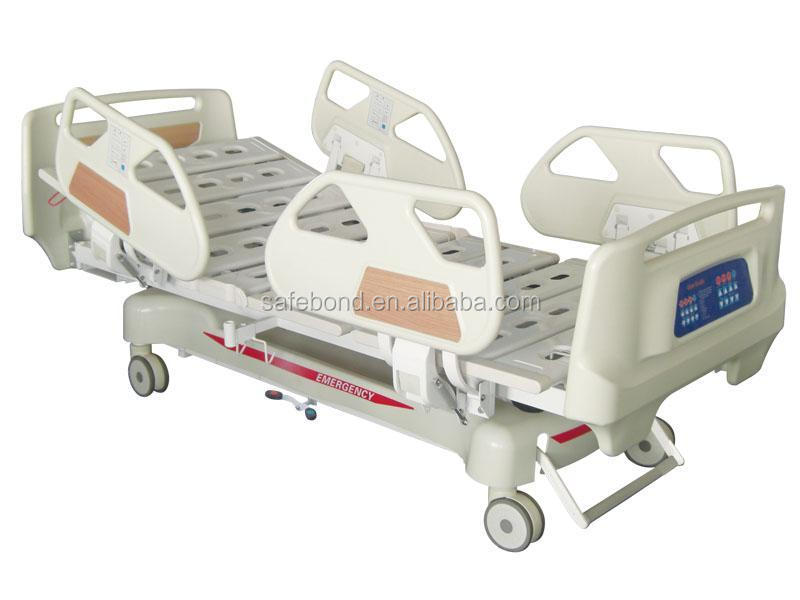 ABS portable medical hospital electric bed with toilet