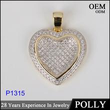 2016 vlaentine series jewelry 925 silver heart shape pendant for girlfriend
