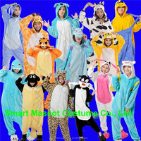 Popular fancy dress flannel animal pajamas for kids super soft thermal kids animal pajamas