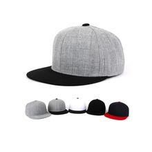 High quality 6 panel embroidery 100% wool snapback cap