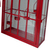 Fashionable design red house metal candle lantern for decoration