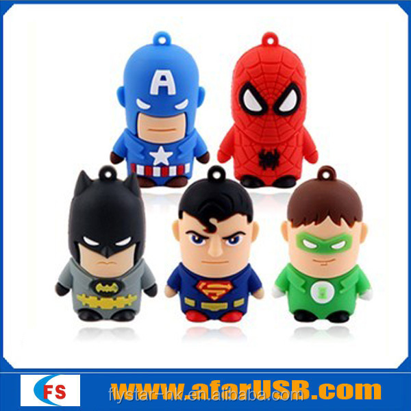 2015 promotional gift Smart man that iron man ,sprider man or other Cartoon Usb Flash drive or Usb flash disk for gift and toy