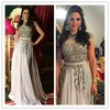 MF07 Elegant Beaded Arabic Short Sleeve Party Dress Middle East Style High Collar Prom Dresses Evening Dresses