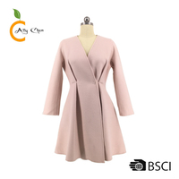 Fashion Long Handmade Wool Flared Womens