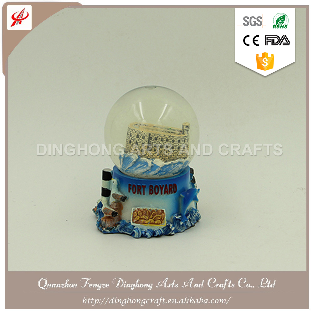Water Snow Globe For Souvenir Resin Turtle Snow Globe