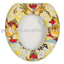 Kids cute soft pvc washable toilet seat cover