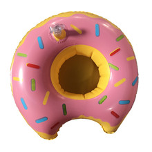 pvc donut float inflatable cup holder