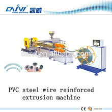 Steel wire reinforcement pipe PVC hose extrusion line making machine