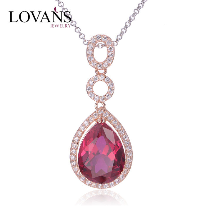 Mother And Child Ruby Gemstone Pendant Necklace FP018