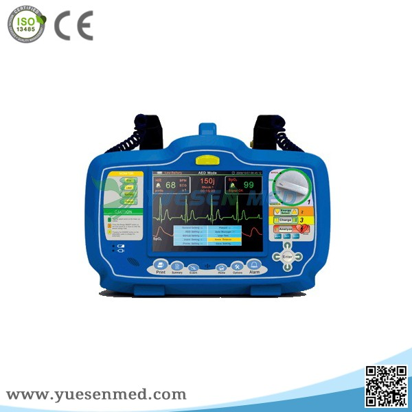YS-8000B Good quality low price of hospital biphasic cardiac defibrillator