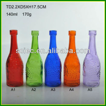 Wholesale glass bottles with corks empty bottles buy for Colored glass bottles with corks