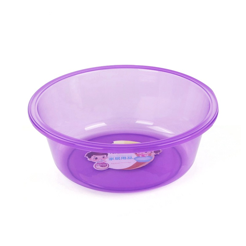 Durable Colorful Round Clear / Transparent Plastic Basin for Bathroom &Kitchen